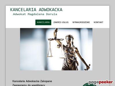 Kancelaria prawna Zakopane - magdalenadorula.pl