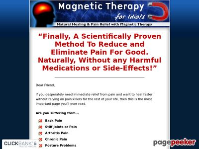 Magnetic Therapy For Idiots – Natural Healing And Pain Relief With Magnetic Therapy