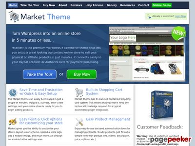 WordPress Shopping Cart – WordPress Ecommerce – Market Theme