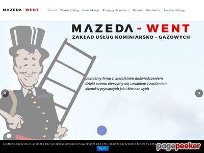 MAZEDA-WENT zakład kominiarsko-gazowy olsztyn