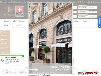 Szczegóły : Mennica Rosenberg - sprzedaż i skup złota oraz srebra