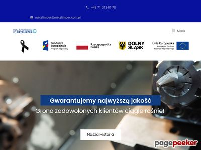 Obróbka skrawaniem Wrocław http://www.metalimpex.com.pl