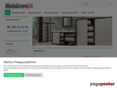 Metalowe24.pl - szafy metalowe, sejfy na broń