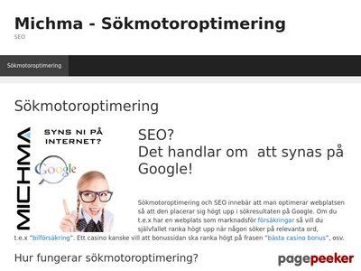 Sökmotoroptimering med Michma AB - http://www.michma.se