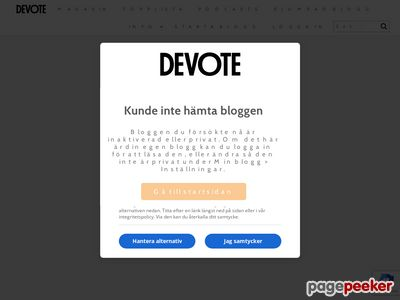 Skärmdump av mimmimouse.devote.se