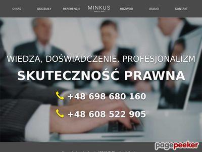 Minkus - odszkodowania, pomoc prawna Głogów