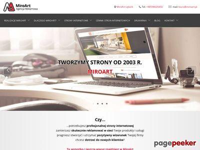 MiroArt strony www Słupsk