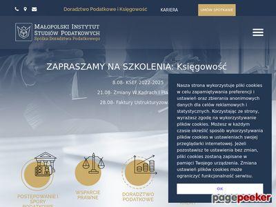 Doradztwo podatkowe - Małopolski Instytut Studiów Podatkowych Sp. z o.o. w Krakowie