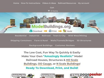 Model Railroad Buildings – Download, Print, Build