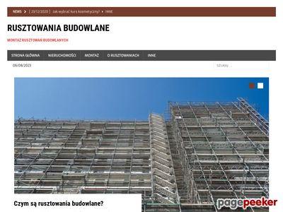 Wynajem rusztowania, wynajem szalunków - Kraków