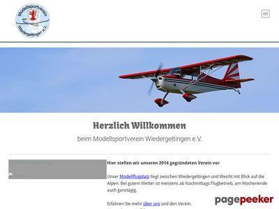 webpage Wiedergeltingen MSV