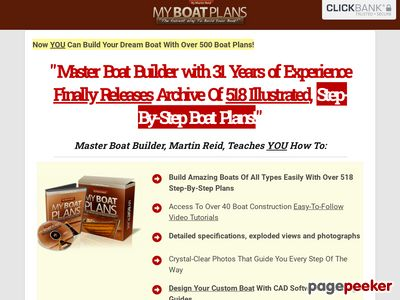 MyBoatPlans® 518 Boat Plans - High Quality Boat Building Plans - Learn How To How To Build A Boat Now