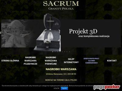 Nagrobki - Sacrum Granity Polska - Projektowanie nagrobków.