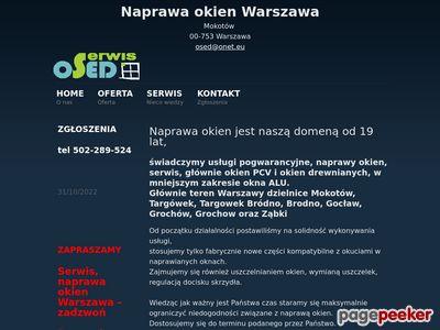 Naprawa okien PCV Warszawa