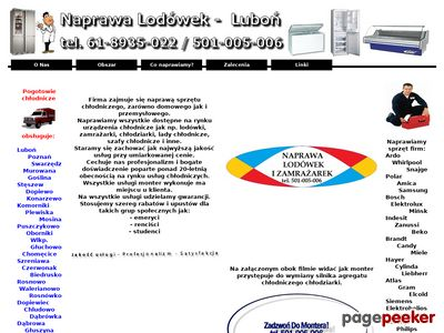 Naprawa Lodówek Luboń - tel.501-005-006