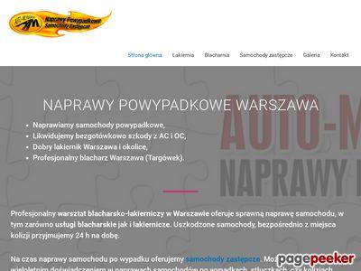 Blacharstwo lakiernictwo - naprawy powypadkowe Warszawa