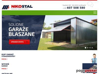 Garaż metalowy - NikoStal