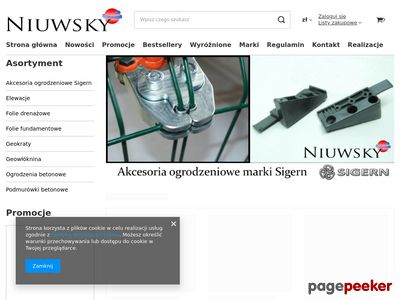 Niuwsky dystrybucja materiałów budowlanych