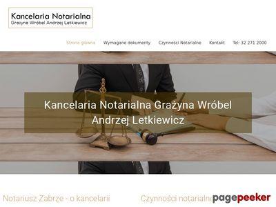 G.WRÓBEL, A.LETKIEWICZ Notariusze Zabrze