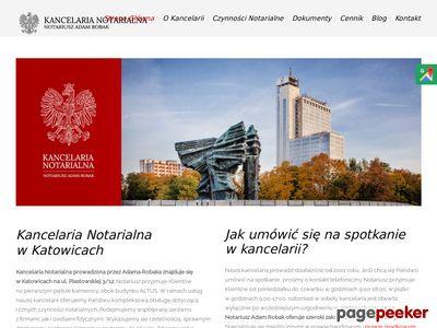 KANCELARIA NOTARIALNA Danuta Telecka-Hartowicz, Adam Robak NOTARIUSZE S.C.