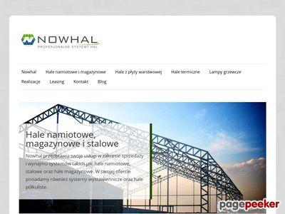 Hale stalowe, namiotowe, magazynowe | Nowhal.pl