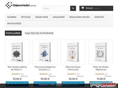 Odpowiedzi.com.pl - Testy do Policji - Egzaminy do Policji