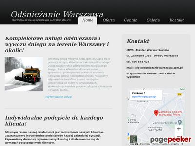 Odśnieżanie Warszawa