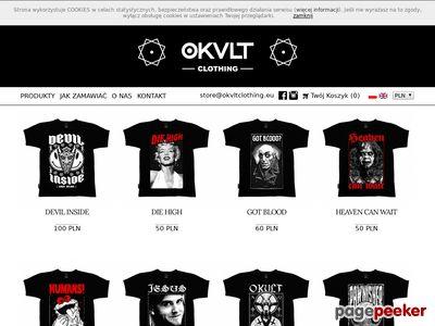 Okvlt Clothing Webstore sklep koszulki bluzy rock metal