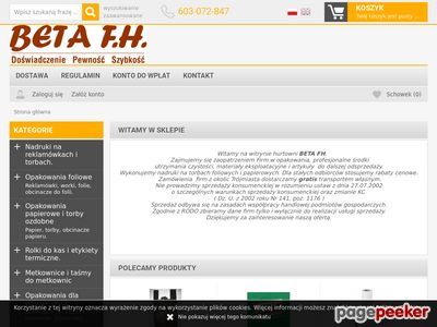 Beta FH worki i reklamówki Gdynia.