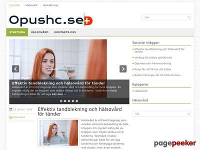 Skärmdump av opushc.se
