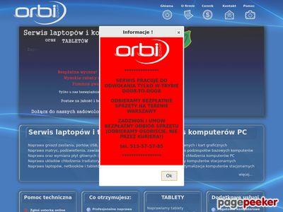 serwis komputerowy Warszawa, pogotowie komputerowe Orbicomp