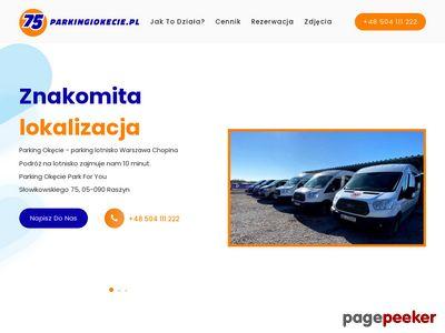 Parking na lotnisku w Warszawie