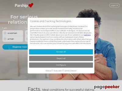 Skärmdump av parship.se