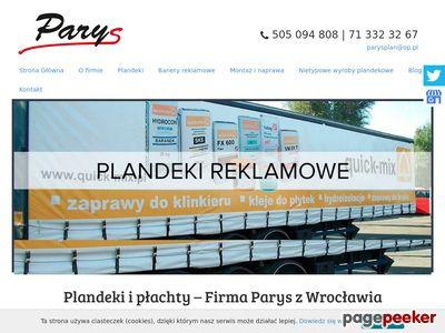 PARYS PAWEŁ RYPL WROCŁAW produkcja plandek wrocław