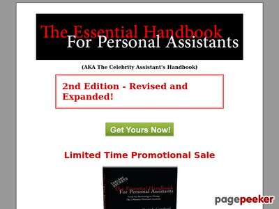 The Personal Assistant's Handbook - Insider secrets to landing the best Personal Assistant jobs working for the rich and famous