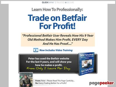 Pete's Betfair Methods – Professional Betfair Training System