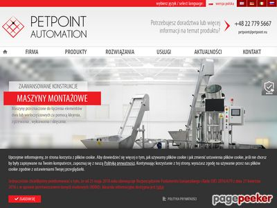 Maszyny do pakowania - Petpoint Automation