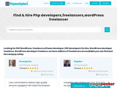 Read more about: http://www.phpworkplace.com/freelancers