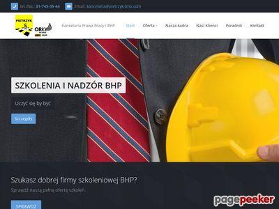 Obsługa bhp Lublin - www.pietrzyk-bhp.com