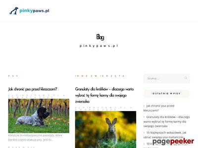 PINKY PAWS ozdoby dla psów