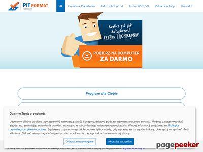 Program pit-format.pl rozliczenie podatku pit 2019