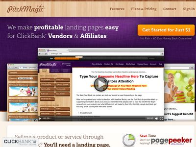 PitchMagic – ClickBank Landing Pages & Websites Made Easy