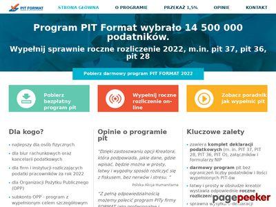 Program PIT FORMAT - rozliczenia podatkowe 2016