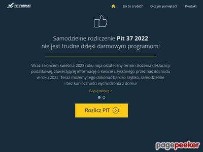Pity 2016 - łatwo rozlicz pit 37 przez Internet