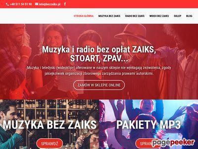 Muzyka na strony www Olsztyn