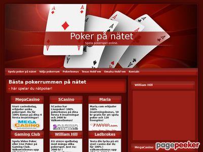 Poker på nätet - allt om nätpoker - http://www.pokerpanatet.com