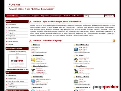 Porewit - indeks stron internetowych