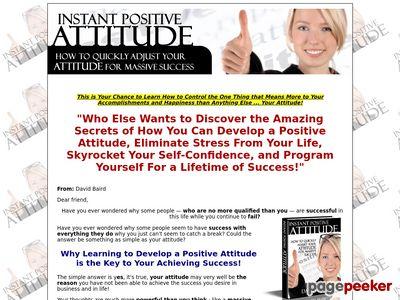 Instant Positive Attitude
