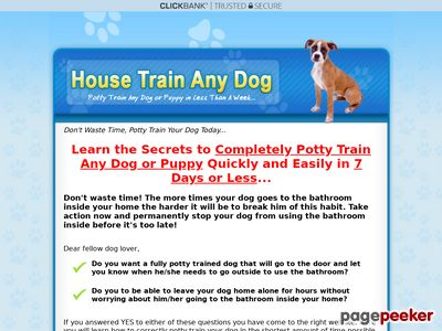 How to Housetrain Any Dog - Secrets to Completely Potty Training a Puppy Quickly and Easily in 7 Days