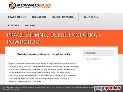 Prace ziemne Bydgoszcz Powroźnik